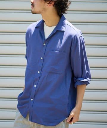 CIAOPANIC TYPY(チャオパニックティピー) パナマ織り長袖シャツ