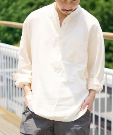 CIAOPANIC TYPY(チャオパニックティピー) パナマ織りプルオーバー長袖シャツ