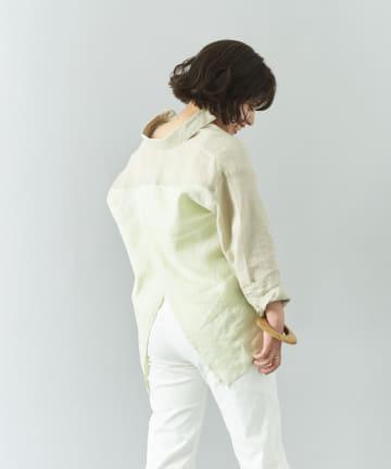 Jena espace merveilleux(ジェナ エスパスメルヴェイユ) リネンバッククロスシャツ