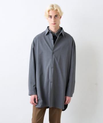 Lui's(ルイス) 無双仕立てスリットビッグシルエットシャツコート