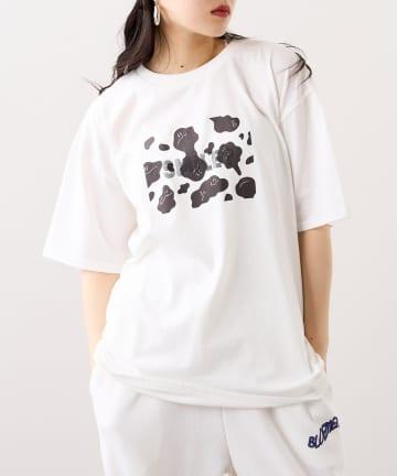 RASVOA(ラスボア) ウシ柄スマイル?Tシャツ