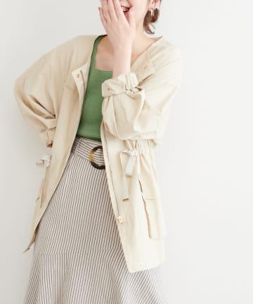 natural couture(ナチュラルクチュール) バックフリルミリタリーブルゾン