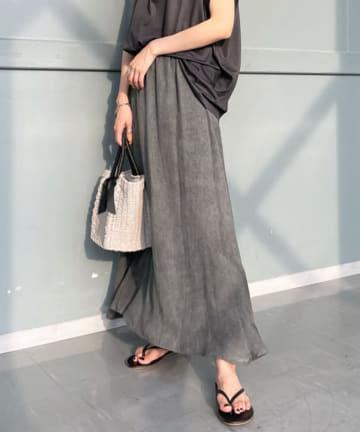 DOUDOU(ドゥドゥ) ムラ染め切替スカート