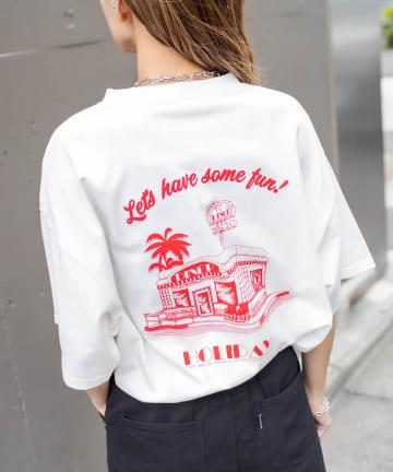 RASVOA(ラスボア) DINERプリントTシャツ