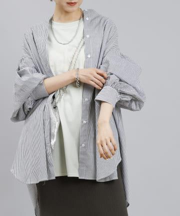DOUDOU(ドゥドゥ) ストライプシャツ