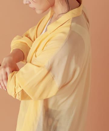 COLLAGE GALLARDAGALANTE(コラージュ ガリャルダガランテ) 【異なり紡ぐ涼】シアーシャツ
