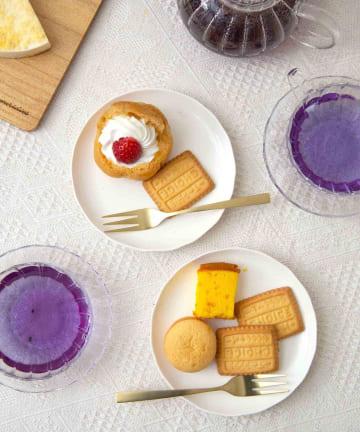3COINS(スリーコインズ) 【TEA TIME】ケーキ皿2枚セット