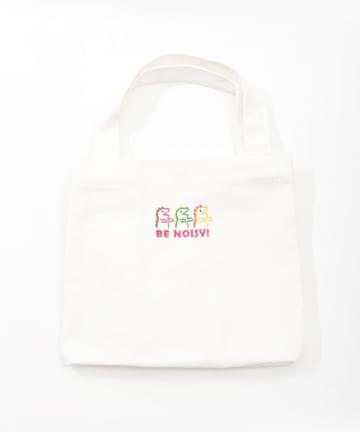 ASOKO(アソコ) <刺繍がPOPでカワイイ♡>マチ広トートバッグ