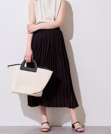 natural couture(ナチュラルクチュール) やわらかアコーディオンプリーツスカート