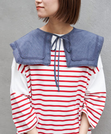 CIAOPANIC TYPY(チャオパニックティピー) デニムレースセーラーカラー付け衿