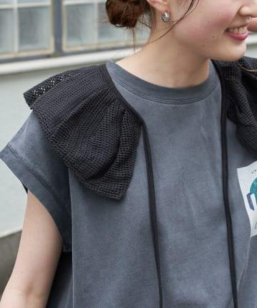 CIAOPANIC TYPY(チャオパニックティピー) 透かし編みビックカラー付け衿