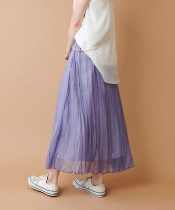 COLLAGE GALLARDAGALANTE(コラージュ ガリャルダガランテ) 【ゆるふわスカート】ランダムプリーツスカート