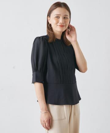 Omekashi(オメカシ) フロントタック半袖ブラウス