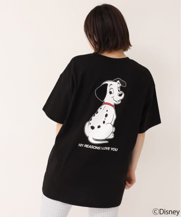 one after another NICE CLAUP(ワンアフターアナザー ナイスクラップ) 101匹わんちゃん/バックプリントビッグTシャツ