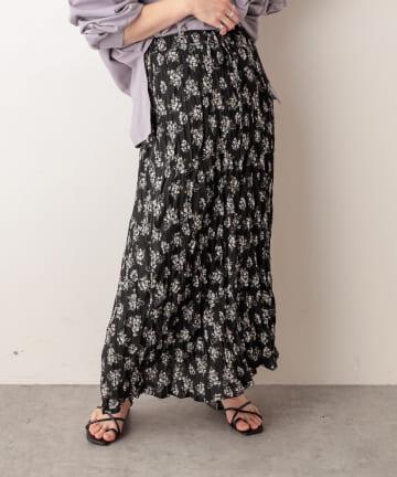 NICE CLAUP OUTLET(ナイスクラップ アウトレット) 花柄プリーツスカート