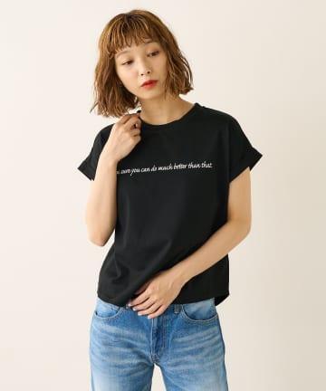 Lui's(ルイス) メッセージプリントフレンチTシャツ