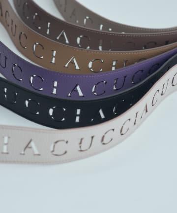IACUCCI(イアクッチ) ≪新色追加≫カッティングロゴショルダーストラップ【TRACOLLA-3702】