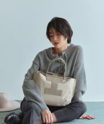 IACUCCI(イアクッチ) スエードレザーキャンバストートバッグM【SORBETTO-4091/SUEDE】