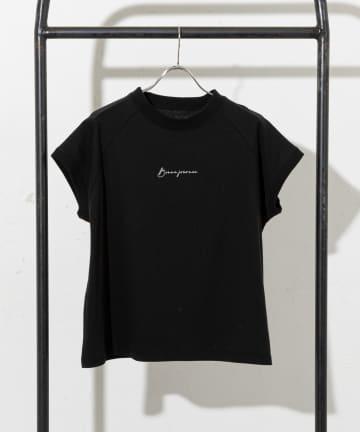 prose verse(プロズヴェール) 《WEB・一部店舗限定》ラグランミニロゴモックネックTシャツ