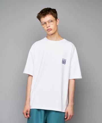 CIAOPANIC(チャオパニック) GIFT SHOP ナンバリングロゴ刺繍Tシャツ