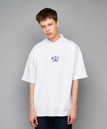 CIAOPANIC(チャオパニック) GIFT SHOP カレッジロゴ刺繍ビッグシルエットTシャツ