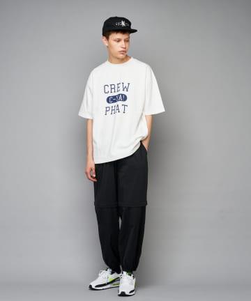 CIAOPANIC(チャオパニック) CREW PHAT カレッジロゴプリントTシャツ