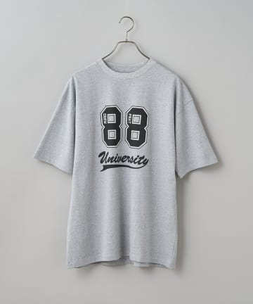 CIAOPANIC(チャオパニック) ナンバリングカレッジロゴプリントTシャツ