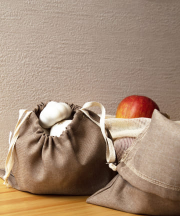 3COINS(スリーコインズ) 【食材の保存や収納におすすめ】巾着2枚SET