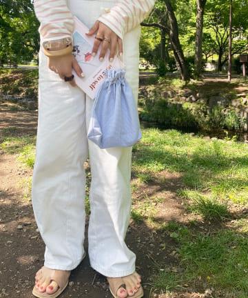 Lattice(ラティス) ギンガムチェック巾着ポーチ