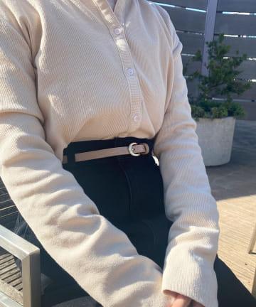 Lattice(ラティス) クロコ型押しベルト