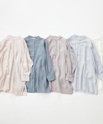 NICE CLAUP OUTLET(ナイスクラップ アウトレット) シアーバンドカラーシャツ