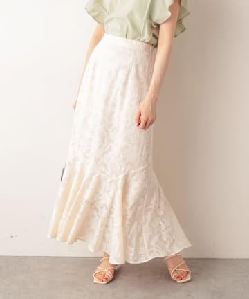 NICE CLAUP OUTLET(ナイスクラップ アウトレット) ジャガードマーメイドスカート