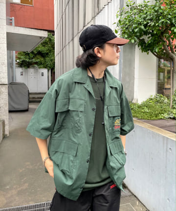 WHO'S WHO gallery(フーズフーギャラリー) 【Sourcream/サワークリーム】FISH MIL SHIRTS