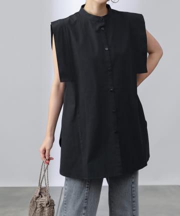 COLONY 2139(コロニー トゥーワンスリーナイン) ブロードノースリーブシャツ/スクエアノースリーブシャツ