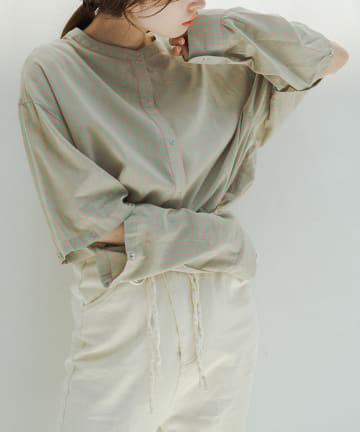 Kastane(カスタネ) ボタンアレンジ2wayチェックシャツ