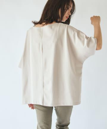 La boutique BonBon(ラブティックボンボン) 《予約》【手洗い可】サイドドット釦ビッグTシャツ