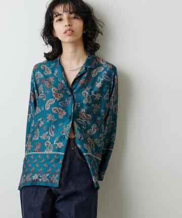 Whim Gazette(ウィム ガゼット) 【Col Pierrot】ペイズリープリントシャツ