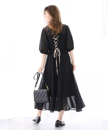 one after another NICE CLAUP(ワンアフターアナザー ナイスクラップ) 【Cherie chuu】Back laceup onepiece