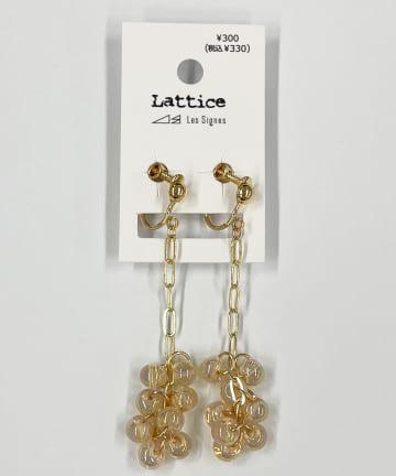 Lattice(ラティス) ビーズボールイヤリング
