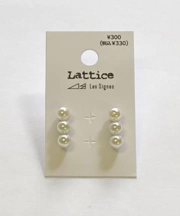 Lattice(ラティス) パールラインピアス