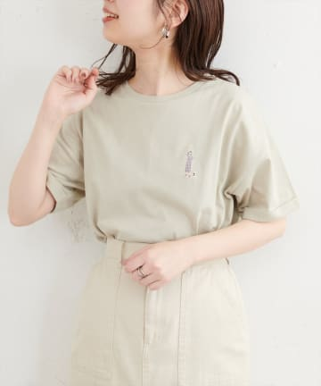 natural couture(ナチュラルクチュール) New女の子刺繍Tシャツ
