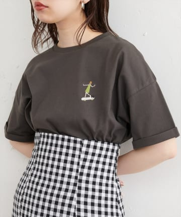 natural couture(ナチュラルクチュール) New女の子刺繍Tシャツ