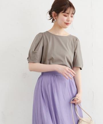 natural couture(ナチュラルクチュール) タックスリーブTシャツ