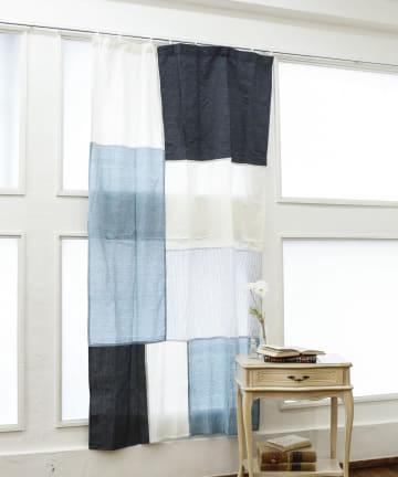 salut!(サリュ) デニムパッチワークカーテン