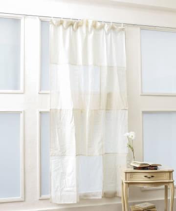 salut!(サリュ) 刺繍パッチワークカーテン