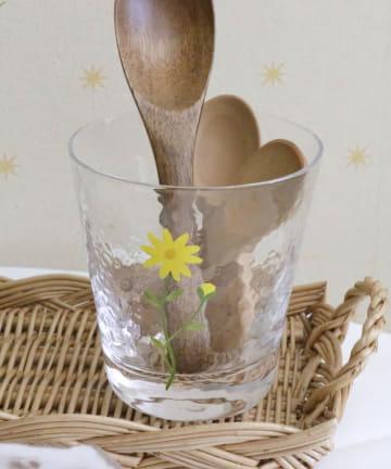 salut!(サリュ) 【Fleur jaune】ガラスコップ
