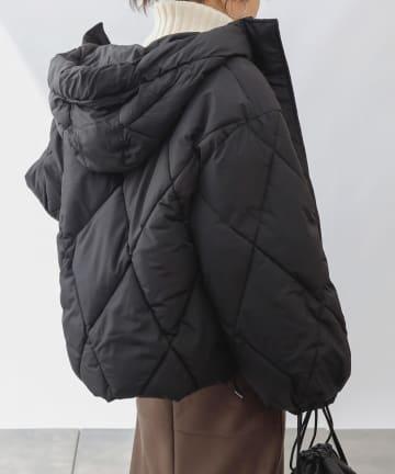 COLONY 2139(コロニー トゥーワンスリーナイン) フード付ダイヤキルト中綿ジャケット