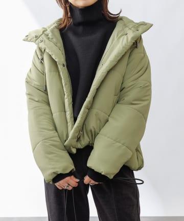 COLONY 2139(コロニー トゥーワンスリーナイン) フード付ラグラン中綿ジャケット