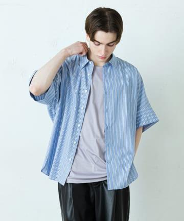 Lui's(ルイス) ストライプドルマンデザイン ビッグシャツ