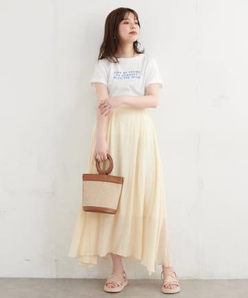 natural couture(ナチュラルクチュール) リネンライク涼しげスカート